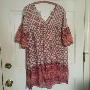 Umgee Patterned Tunic/Shirt size Large